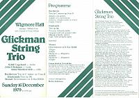 Anna415 - Program - Glickman String Trio - 16 Dec 1979